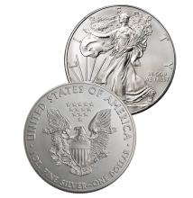 (2) Random Date US Silver Eagles