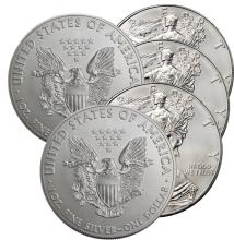 (5) US Silver Eagles- Random Dates