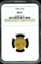 1903 MS 62 $ 2.5 Gold Liberty NGC