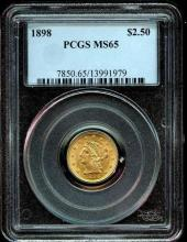1898 MS 64 $ 2.5 Gold Liberty PCGS