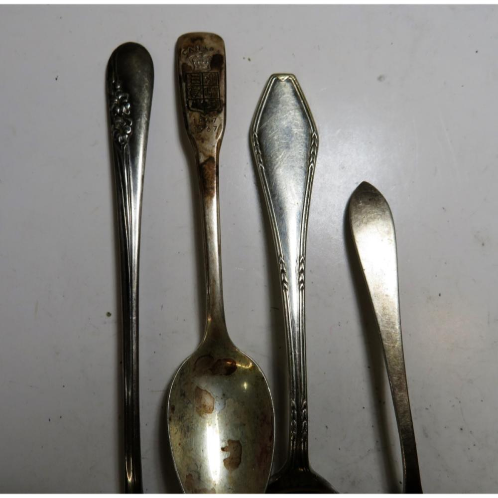Lot of 4 Sterling Silver Spoons -2.5 oz.