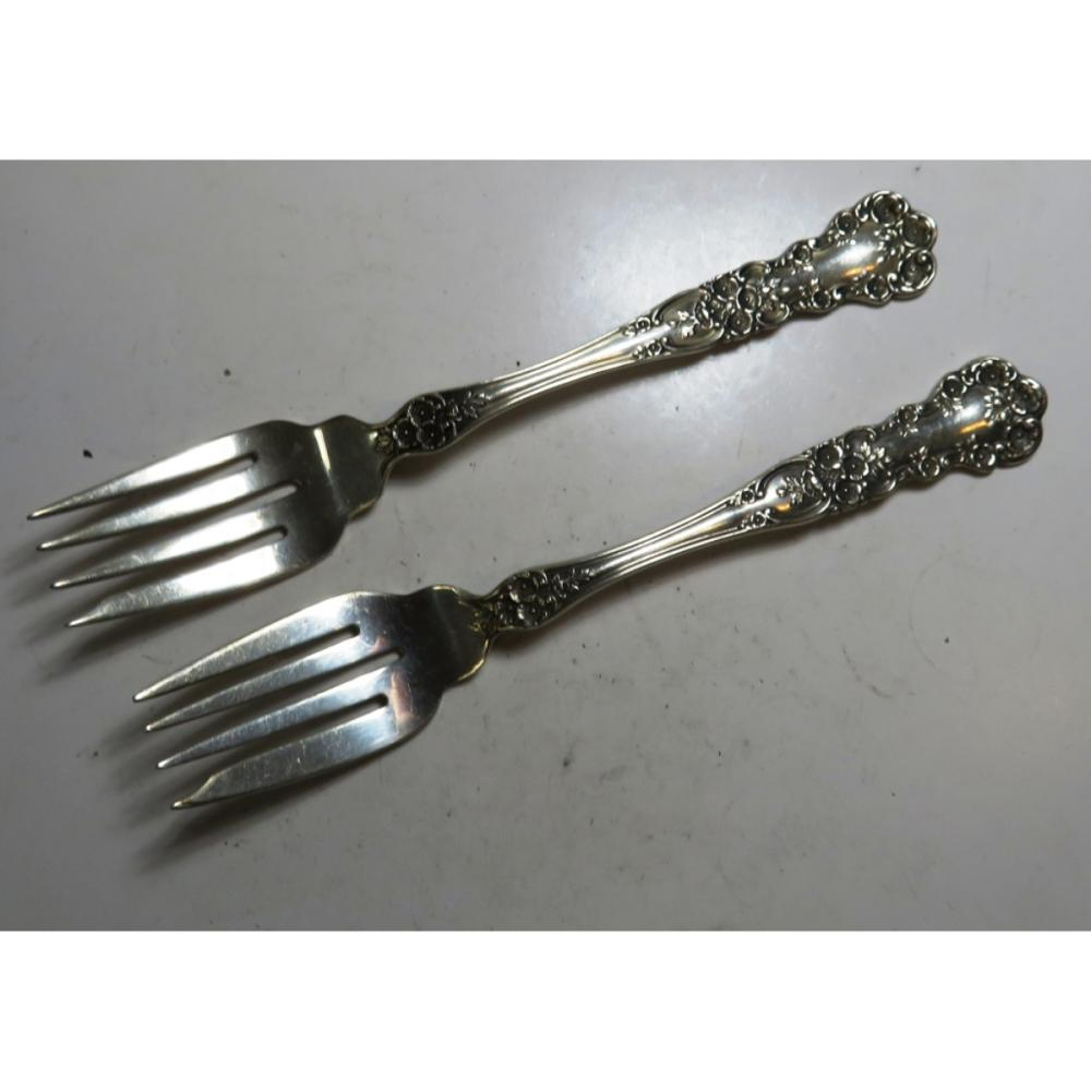 Pair of Gorham Buttercup Sterling Dessert Spoons