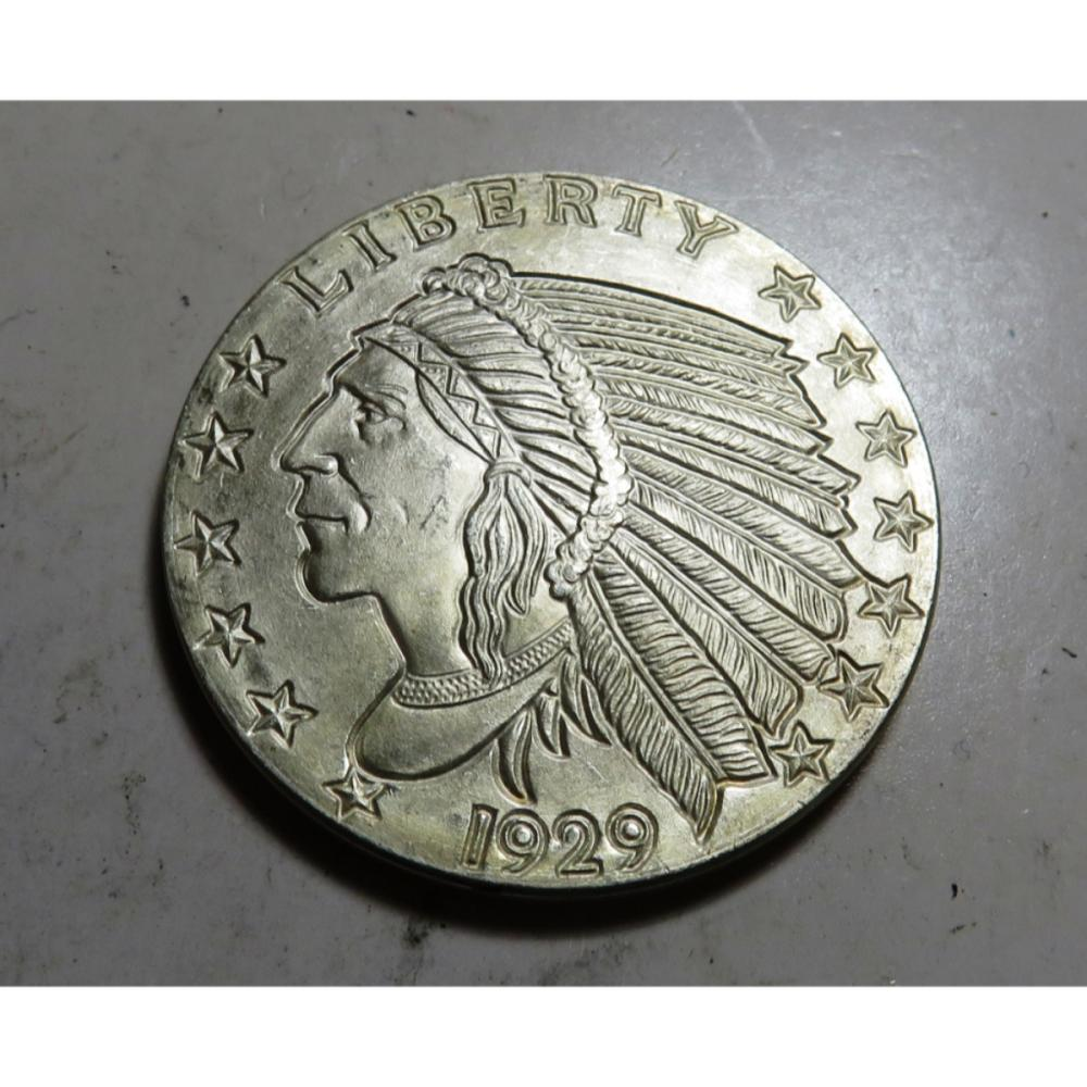 1929 1 oz Silver Restrike Bullion Indian Head