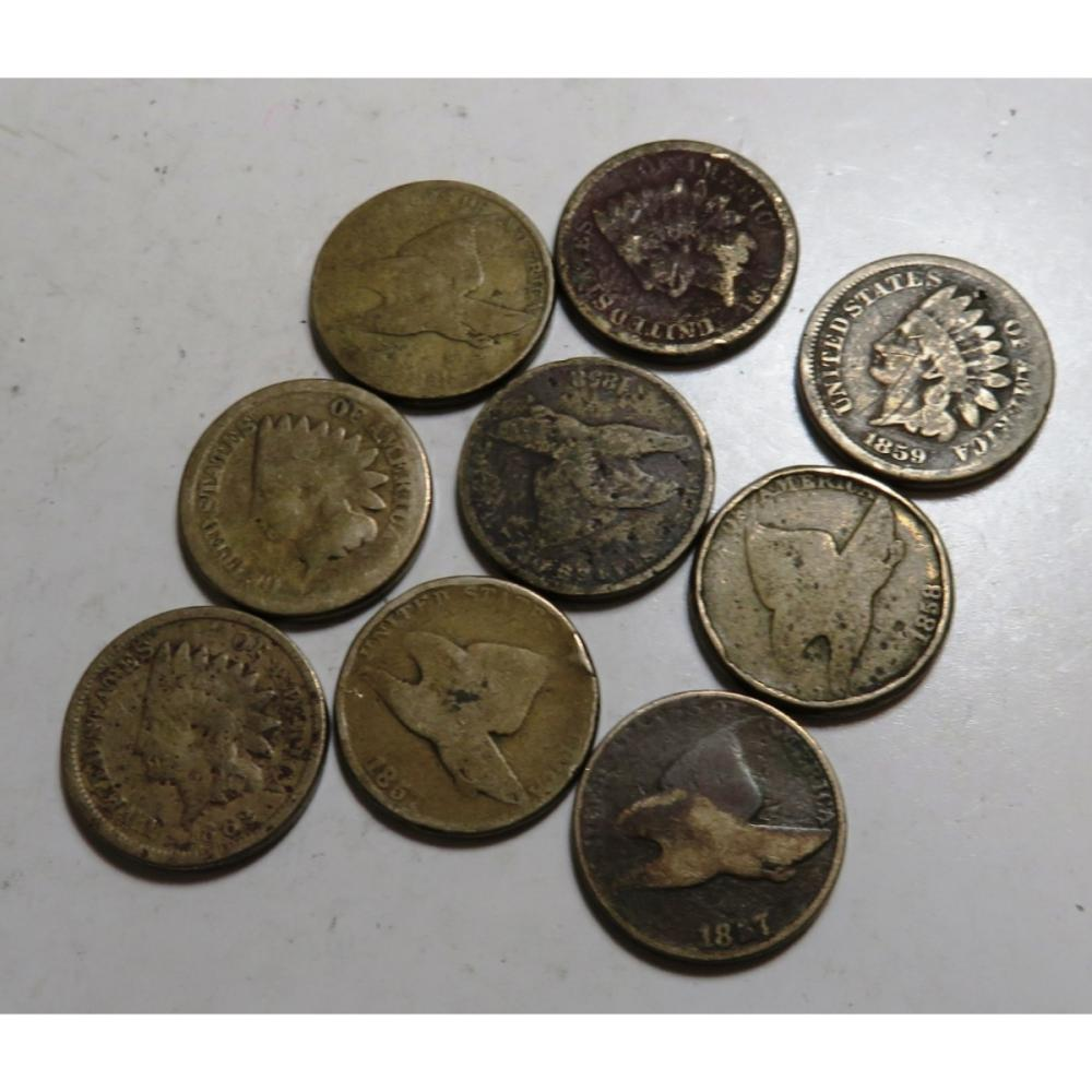 Lot of 9 Assorted Collectible US Cents