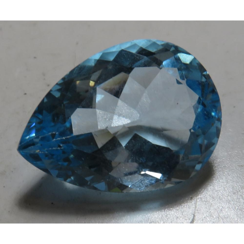 50.5 ct. Natural Pear Shape Blue Topaz Gemstone