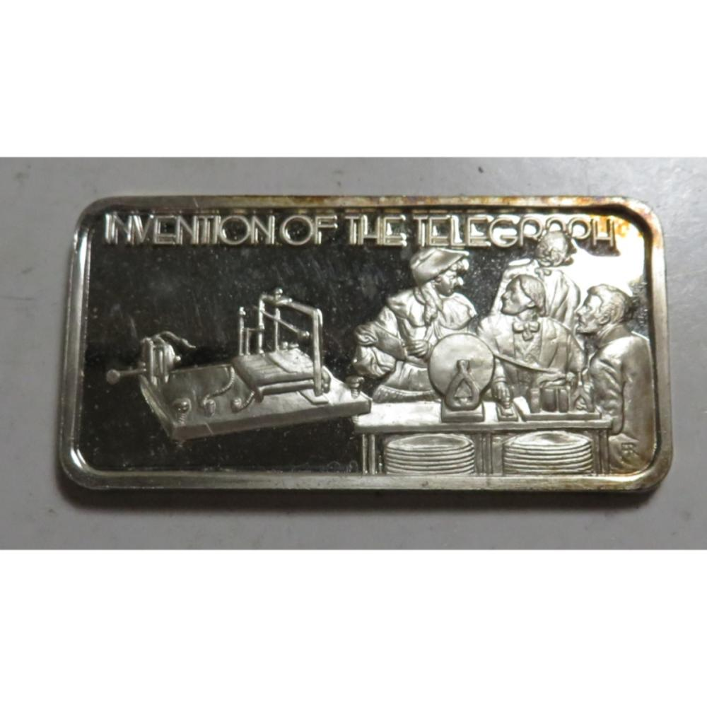 1 oz. Telegraph Silver Bar
