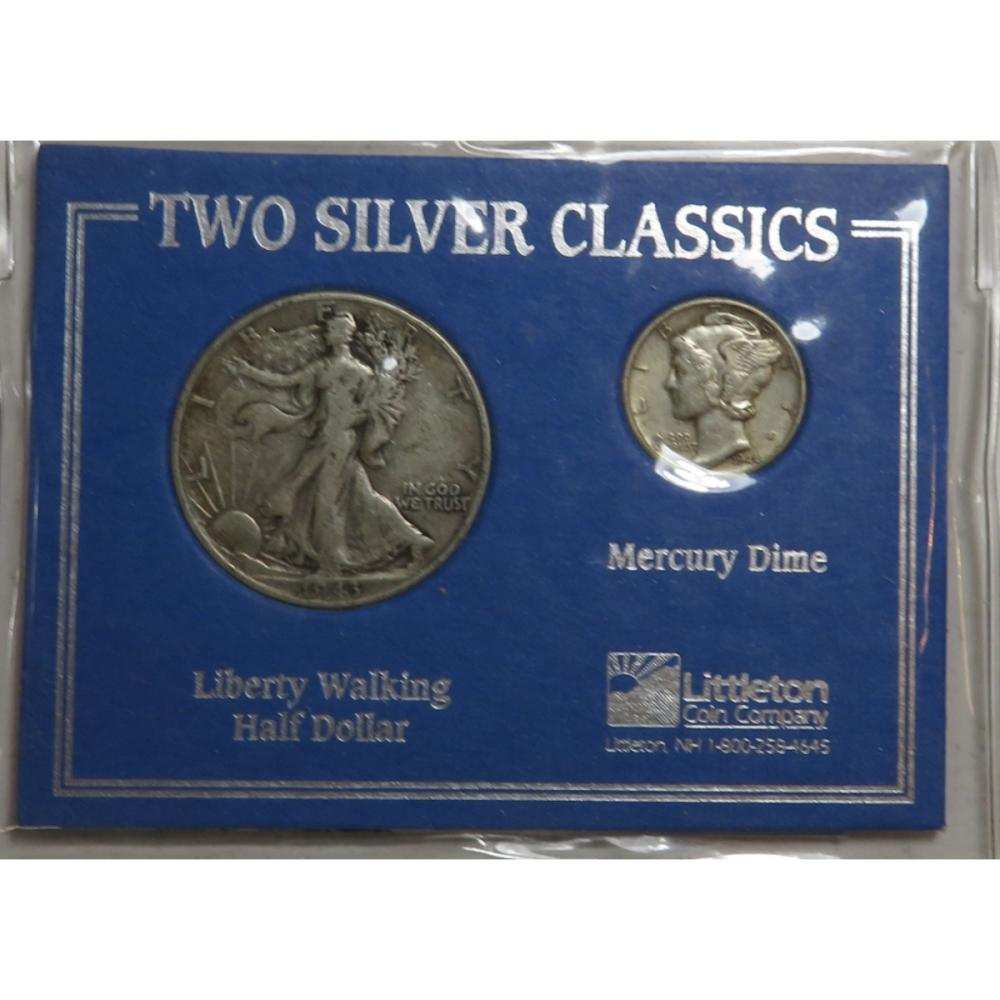 90% Silver 2 pc. Walker and Mercury Set