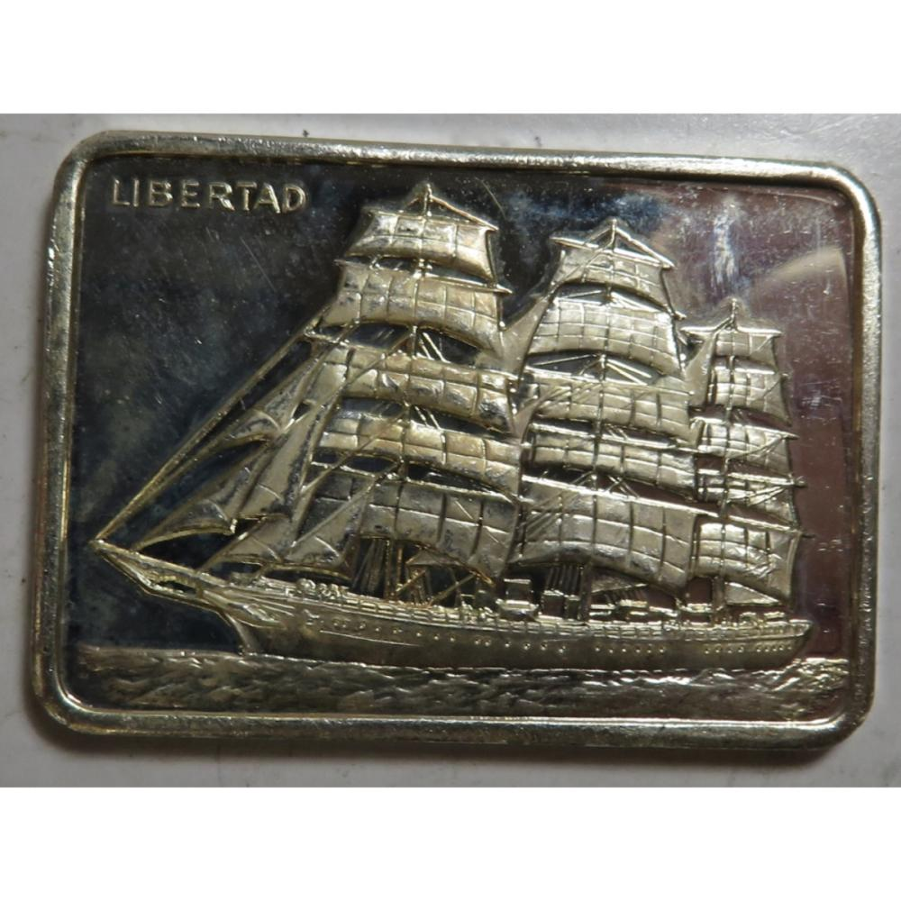 1 oz. Sailing Ship Libertad Silver Bar