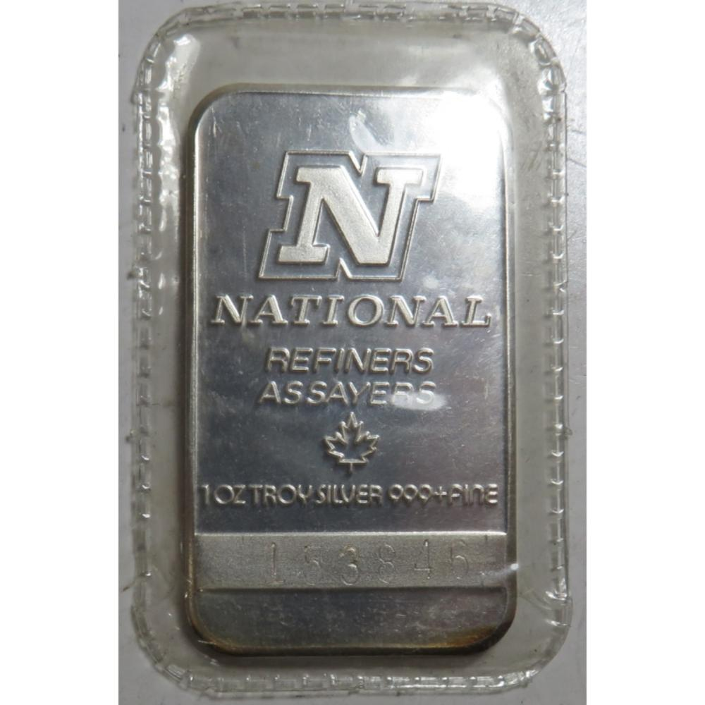 National Refiners 1 oz Silver Bar
