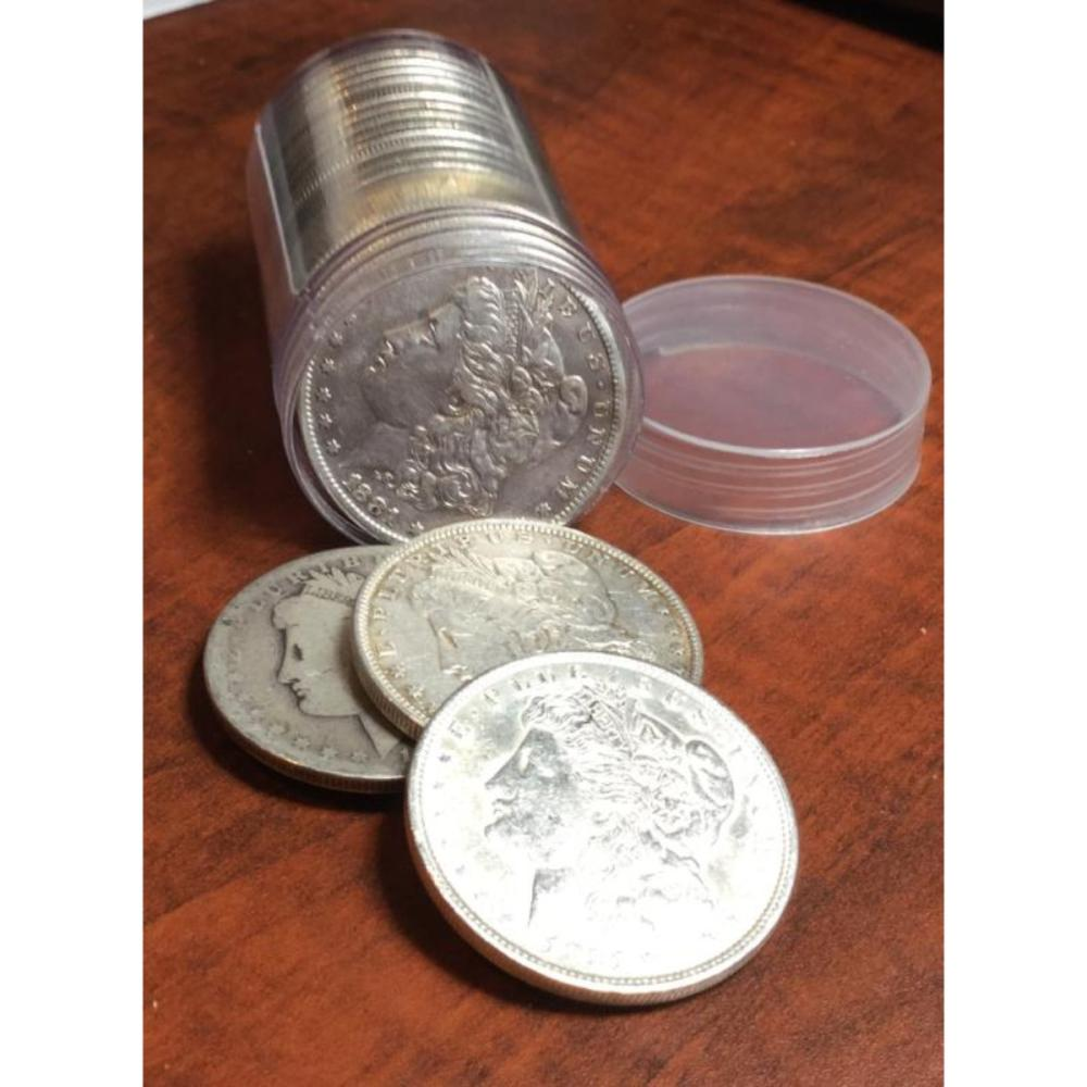 20 pcs. Random Date Morgan Silver Dollars in Tube