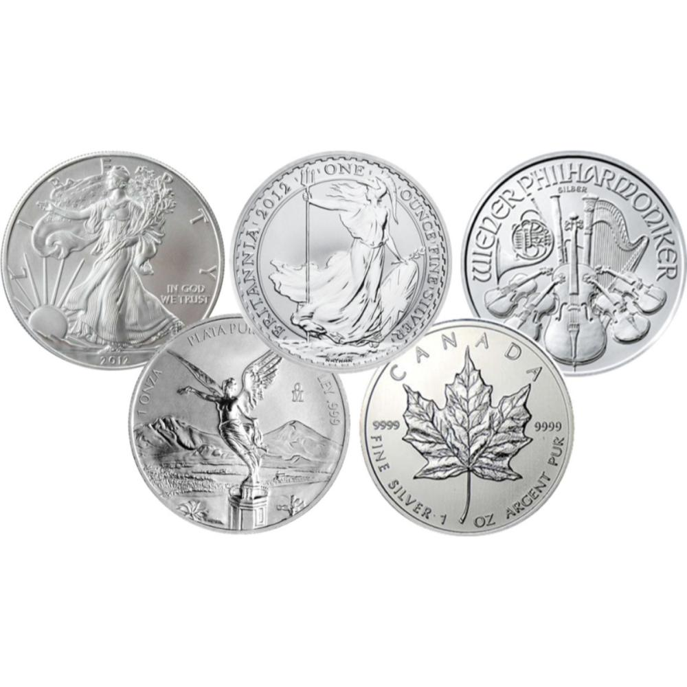5 Nation 1 oz. Silver Bullion Investors Lot