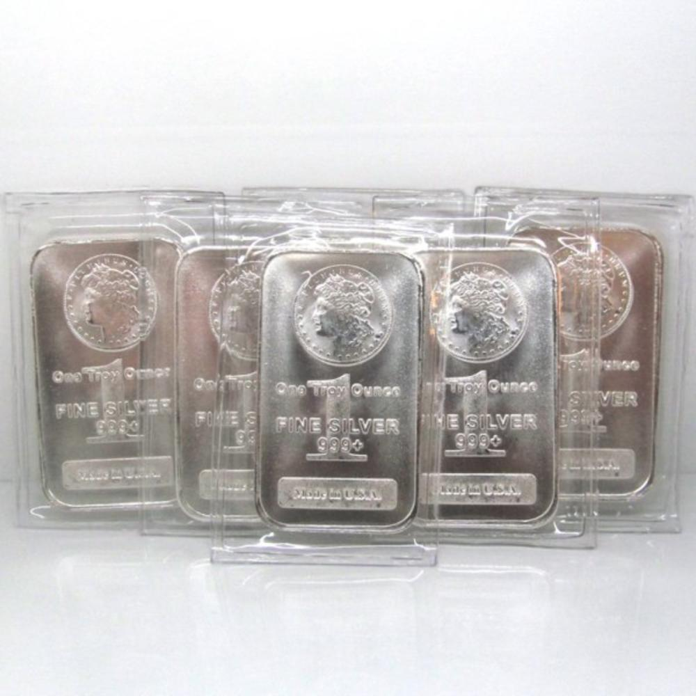 10 pcs. Morgan Design 1 oz. Silver Bars