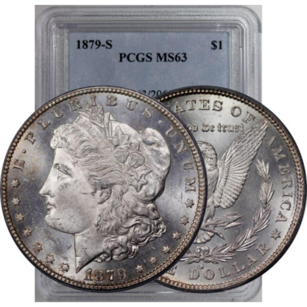 1879 s MS 63 PCGS Morgan Silver Dollar
