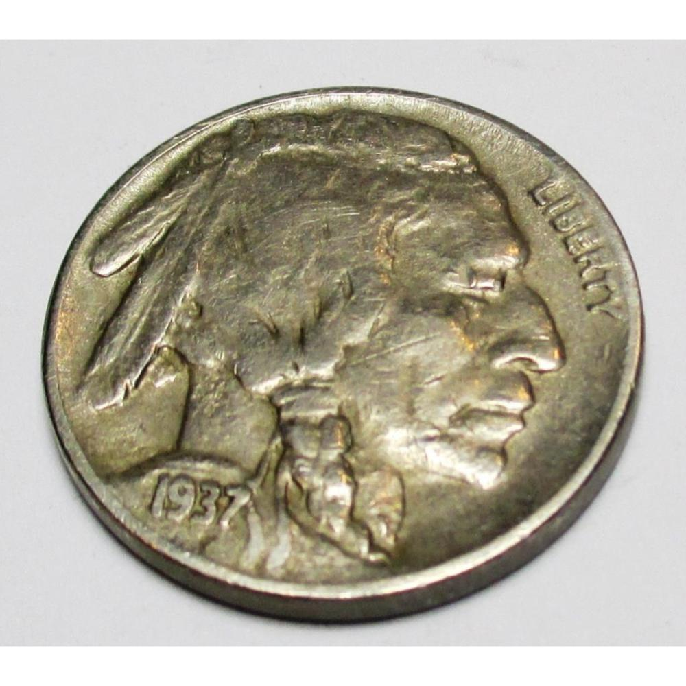 1937 D XF Grade Buffalo Nickel