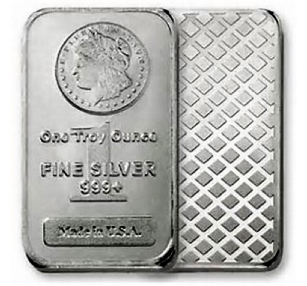 1 oz Silver Morgan Design Bar - .999 Pure