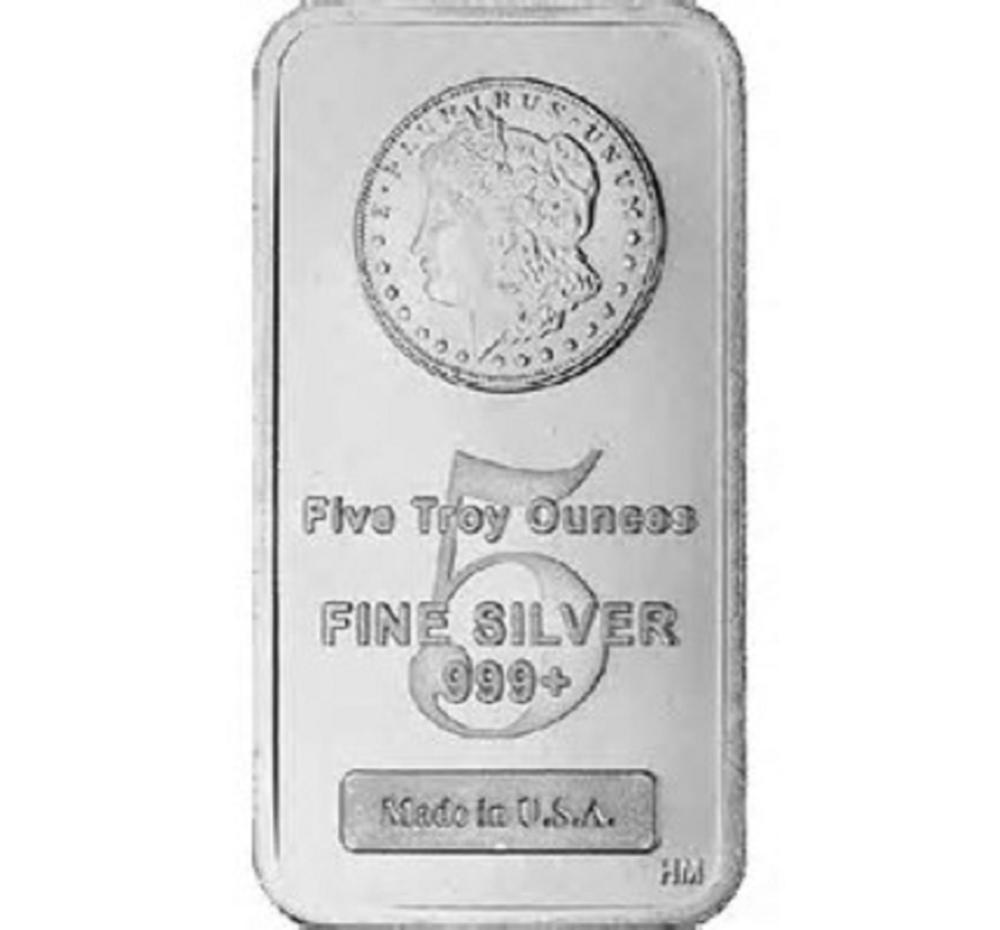 5 oz. Morgan Design Silver Bar -.999 Pure