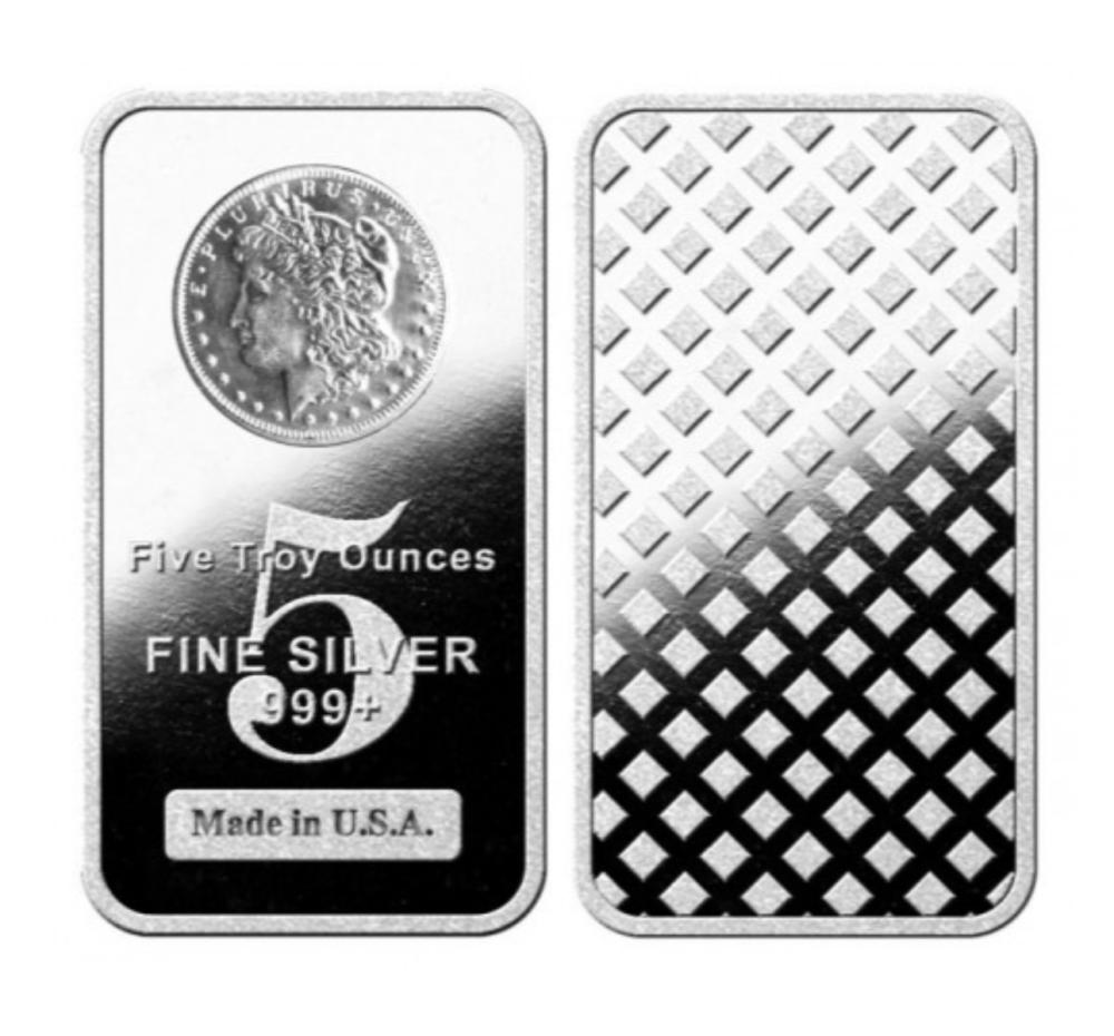 5 oz. Morgan Design Silver Bar .999 Pure