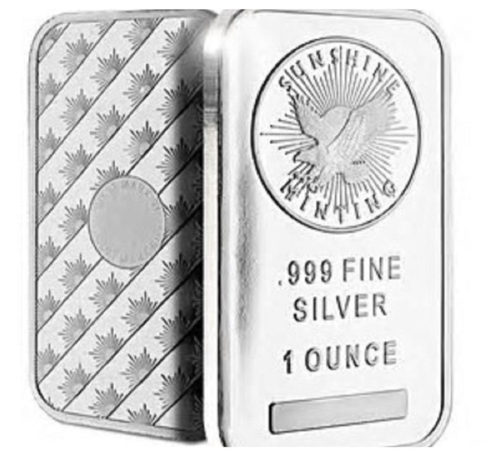 1 oz. Silver Bar - Sunshine Mint - Pure .999