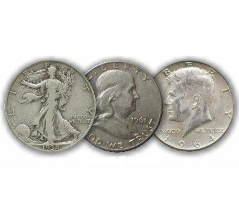 Starter Set $1.50 Face Value 90% Silver Halves