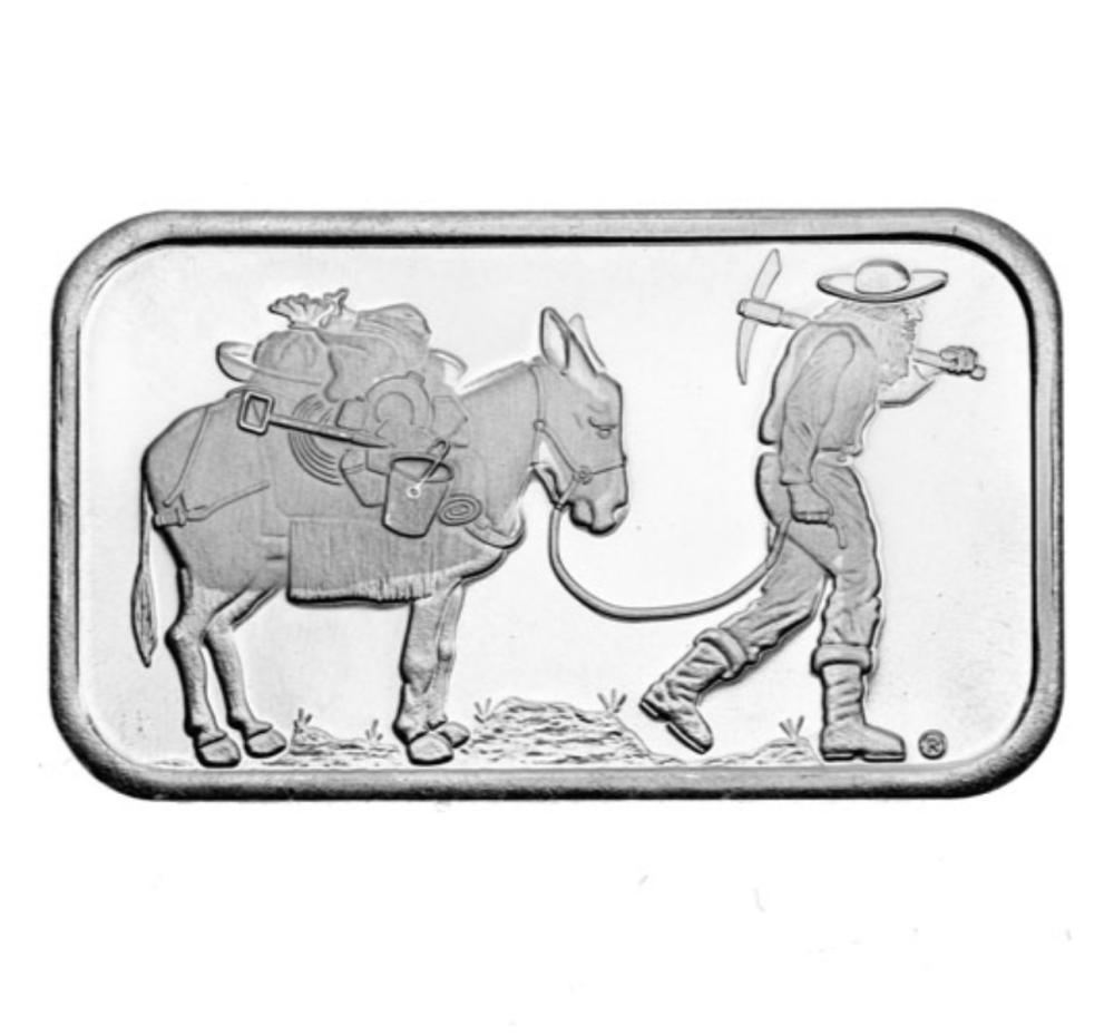 1 oz.  Prospector Silver Bar -.999 pure