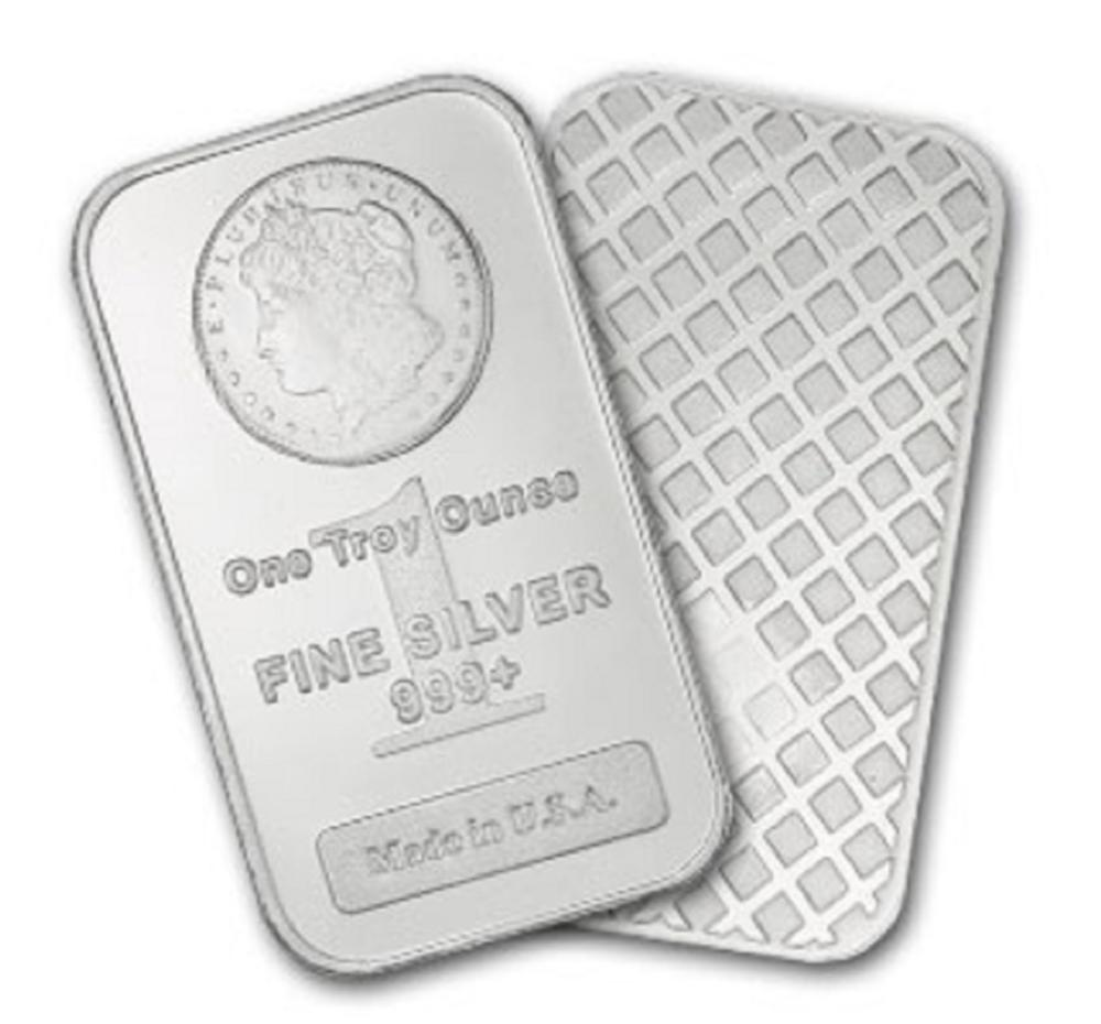 1 oz Silver Morgan Design Bar- .999 pure