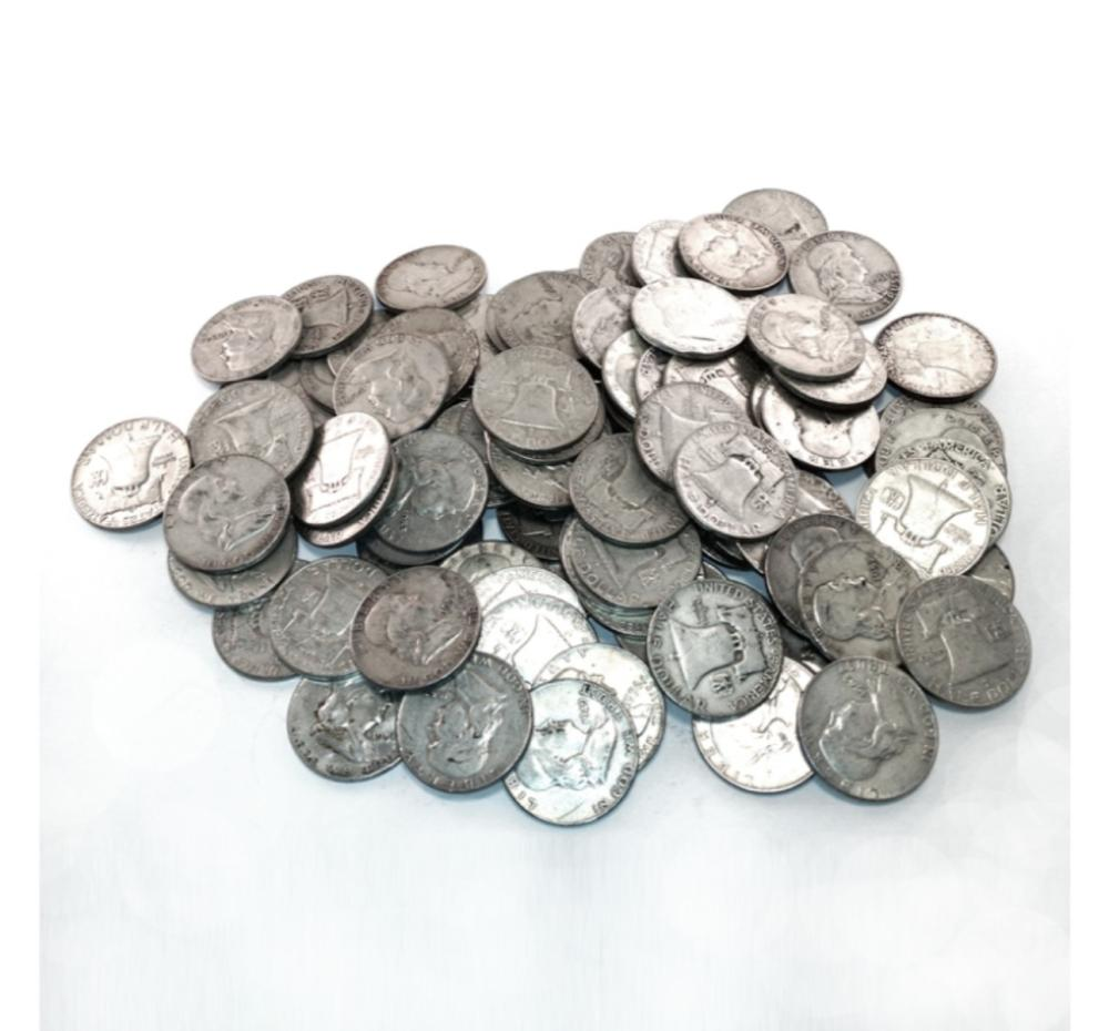 (50) Franklin Half Dollars -90% Mix