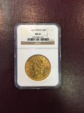 1907 MS 61 NGC $ 20 Gold Liberty Double Eagle