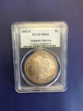 1883 S MS 61 Redfield Collection PCGS Morgan $1