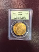 1904 MS 60 OGH PCGS $ 20 Gold Double Eagle