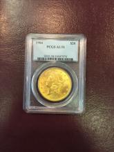 1904 AU 58 PCGS $ 20 Gold Double Eagle