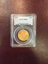 1900 MS 64 PCGS $ 10 Gold Liberty