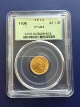 1906 MS 64 PCGS OGH $2.5 Gold Liberty