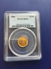 1906 MS 64 PCGS $ 2.5 Gold Liberty