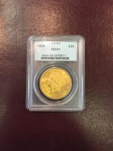 1904 MS 64 PCGS $ 20 Gold Double Eagle