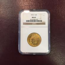 1913 MS 62 NGC $ 10 Gold indian