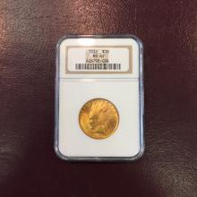 1932 MS 62 NGC $ 10 Gold Indian