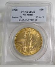 1908 MS 63 PCGS $ 20 Saint Gaduen's