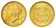 1853 $ 1 Gold Liberty Type I -