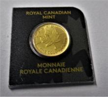 1 Gram Canadian Gold Maple Leaf