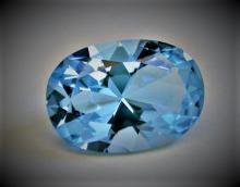 38.85 ct. Natural Blue Topaz Oval Gemstone