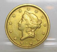 1851 Type I Gold Liberty $ 1 Coin