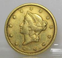 1851 Type I $1 Gold Liberty Coin