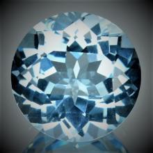 37.80 ct. Natural Blue Topaz Round Brilliant Gem