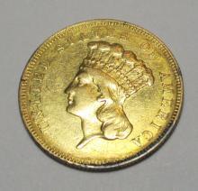 1857 $3 Golld Coin - RARE Investment Coin