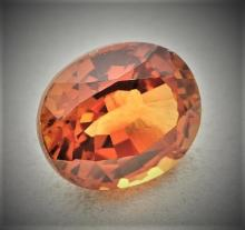 2.35 Natural Orange Sapphire Round Gemstone