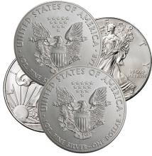 Lot of (4) US Silver Eagles - 2016
