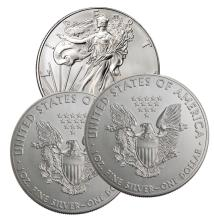 (3) US Silver Eagles - 2016