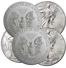 (5) US Silver Eagles -2016