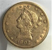 1903 S $10 Gold Liberty Eagle