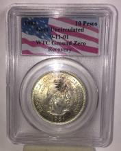 1961 -10 Peso WTC Ground Zero Recovery -PCGS
